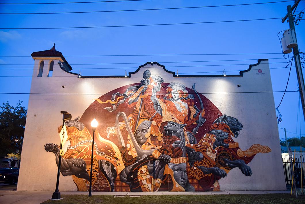 Street art Tristan Eaton à Tampa