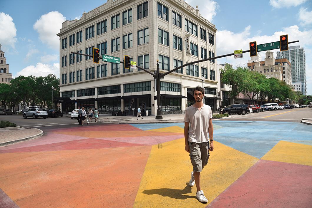 Les rues colorées de Saint Petersburg en Floride