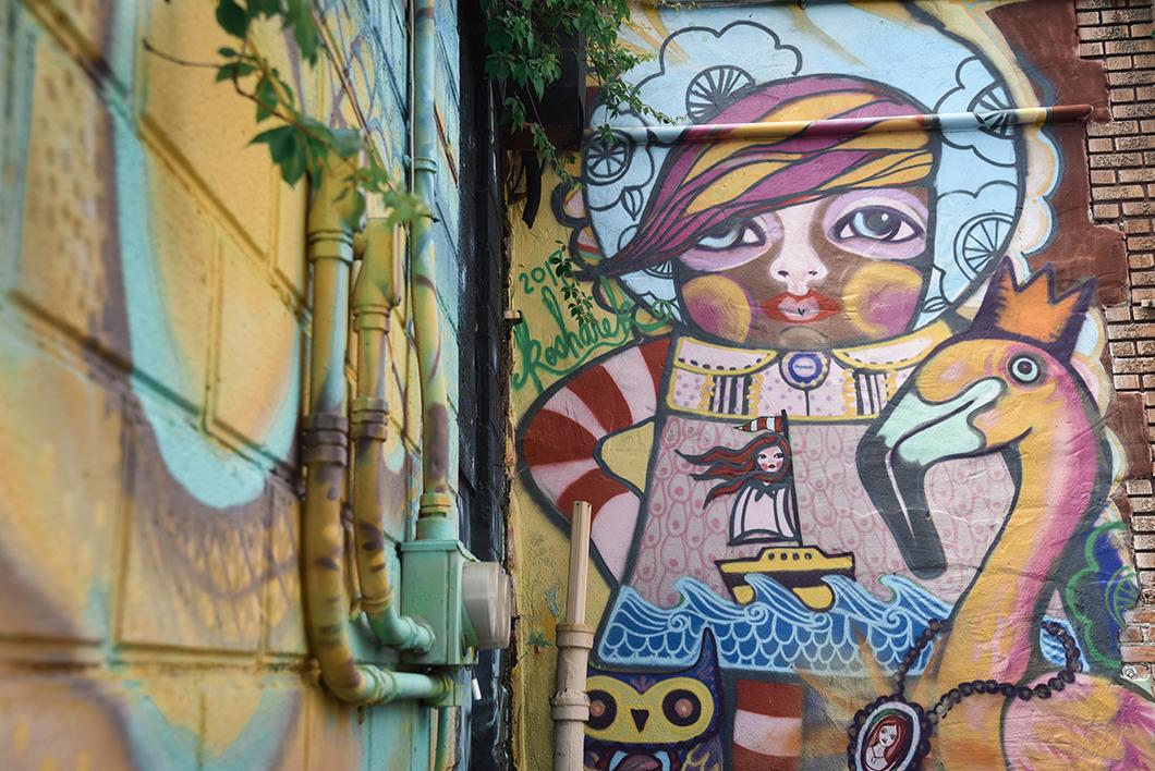 Oeuvres de street art à Saint Petersburg