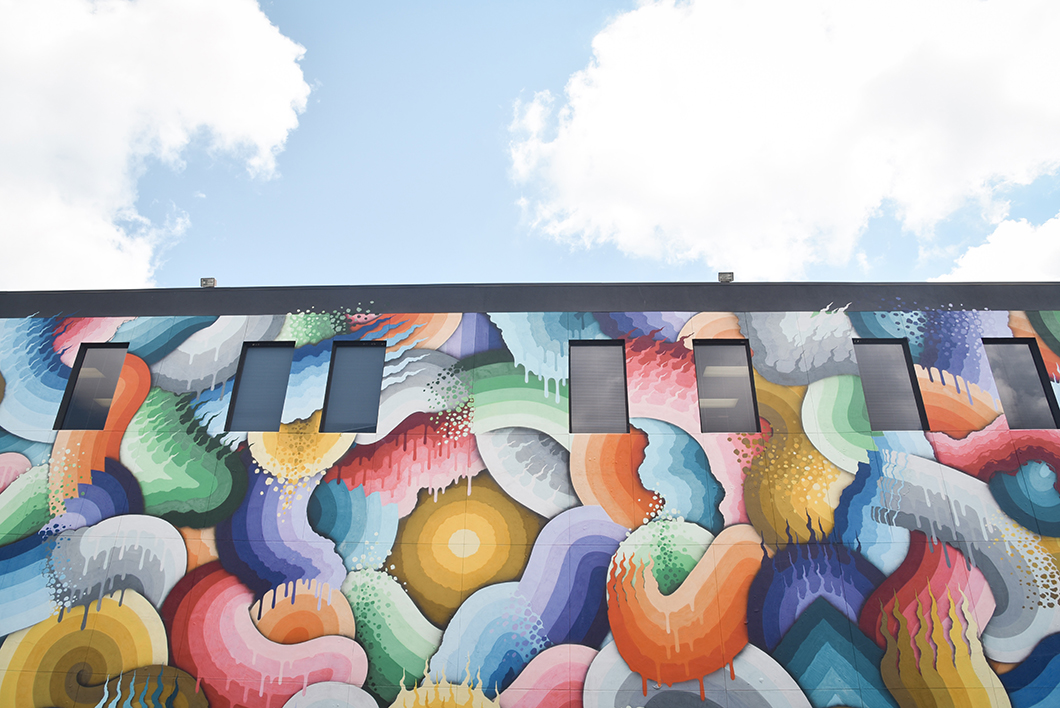 Street art à Saint Petersburg sur la côte ouest de la Floride