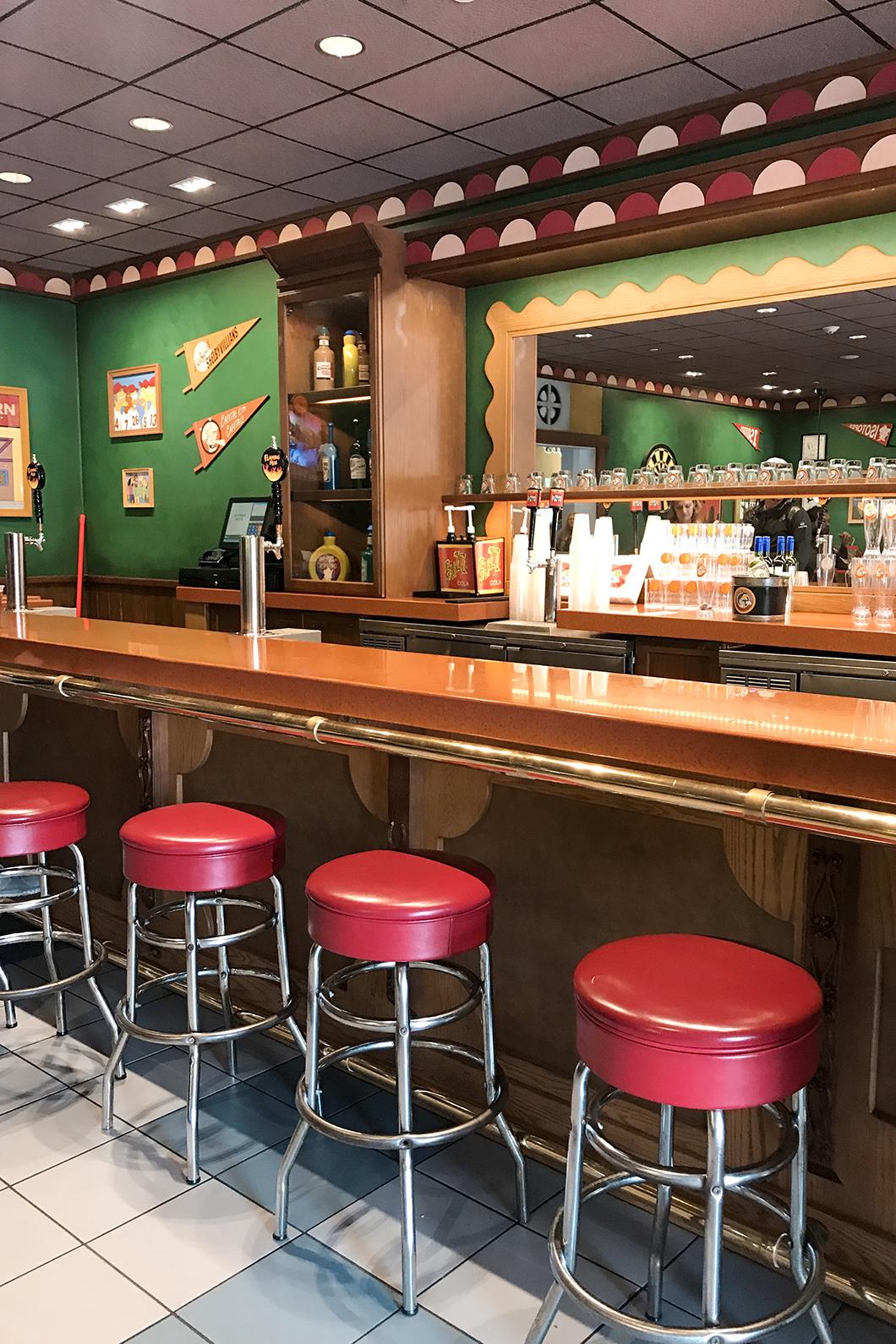 Bar chez Moe's à Universal Studios Orlando
