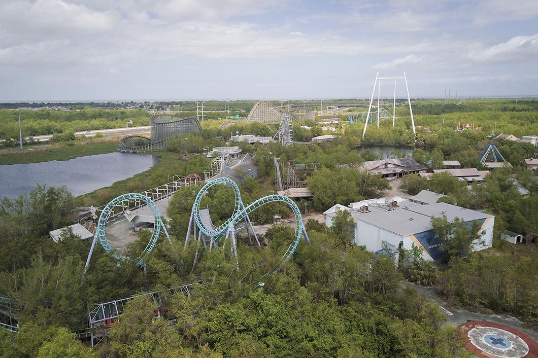 Visiter le parc d'attractions abandonnéSix Flags de la Nouvelle Orléans