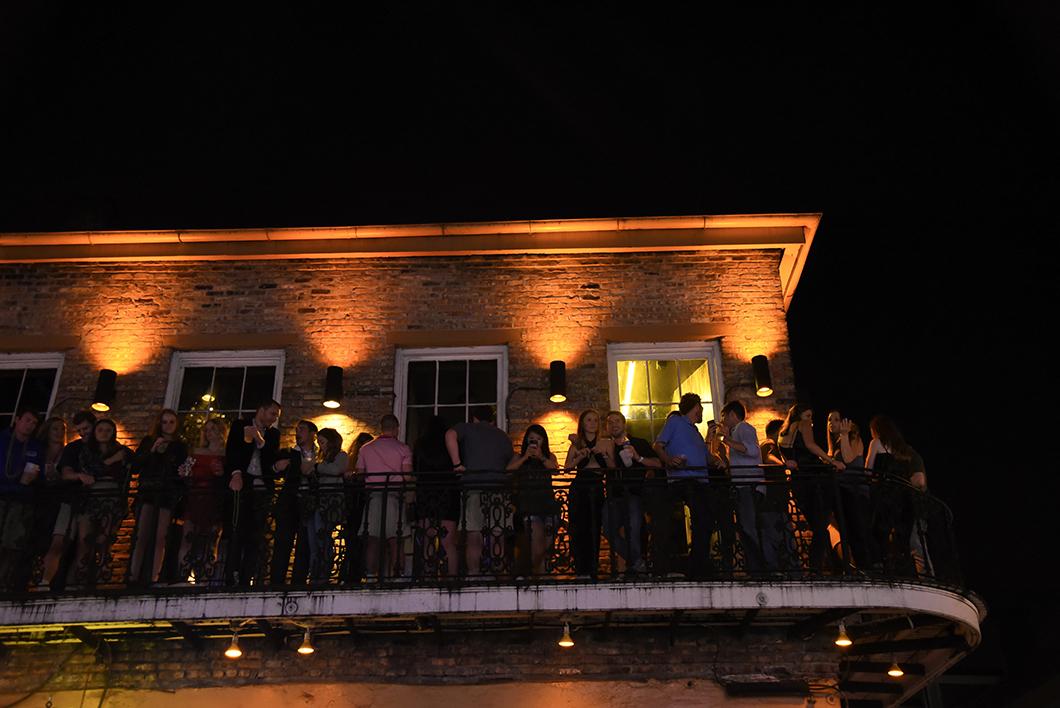Le Vieux carré de nuit à la Nouvelle Orléans