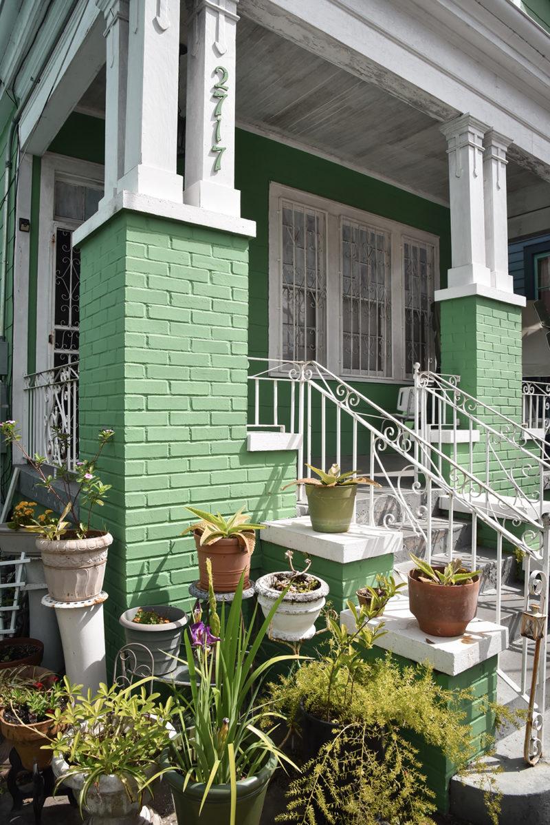 Maison verte à Faubourg Marigny