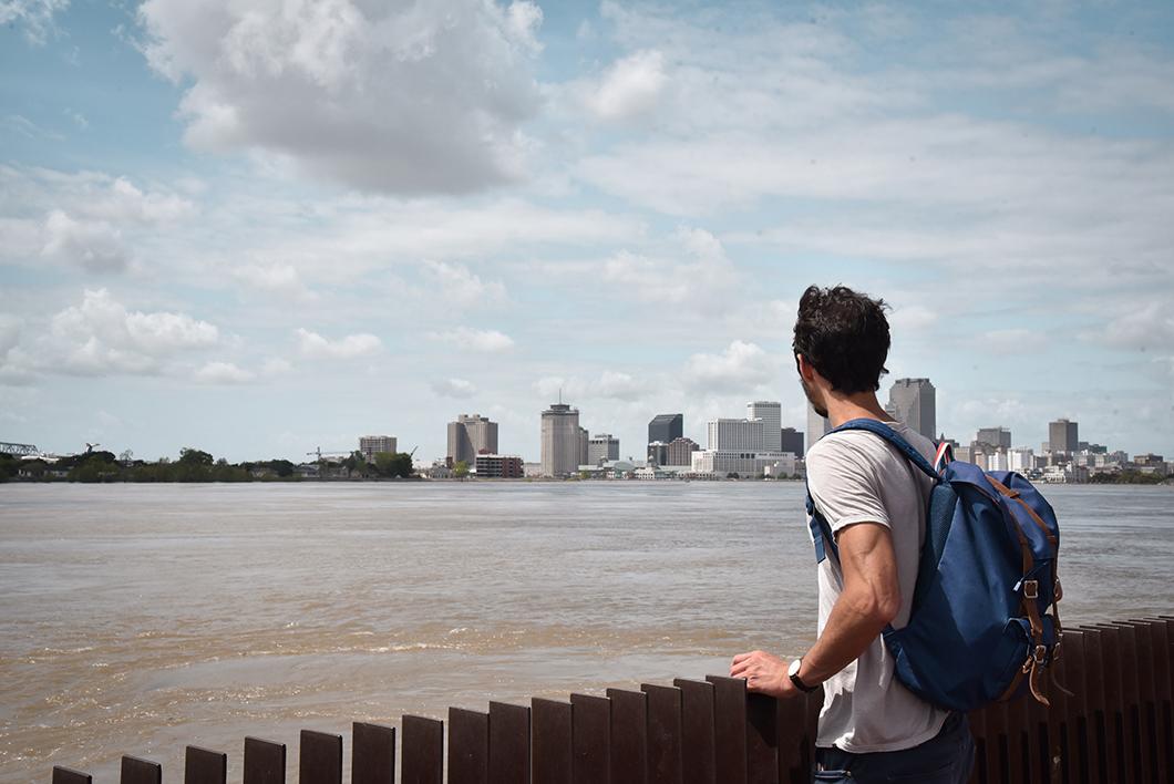 Se promener au Crescent park à la Nouvelle Orléans