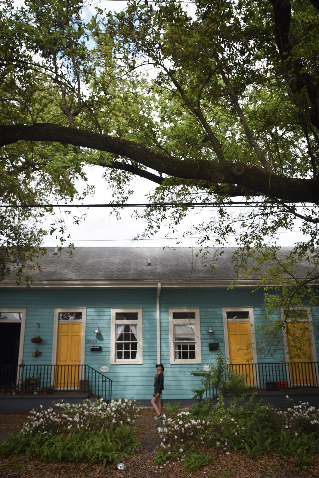 Maisons colorées de Esplanade Avenue