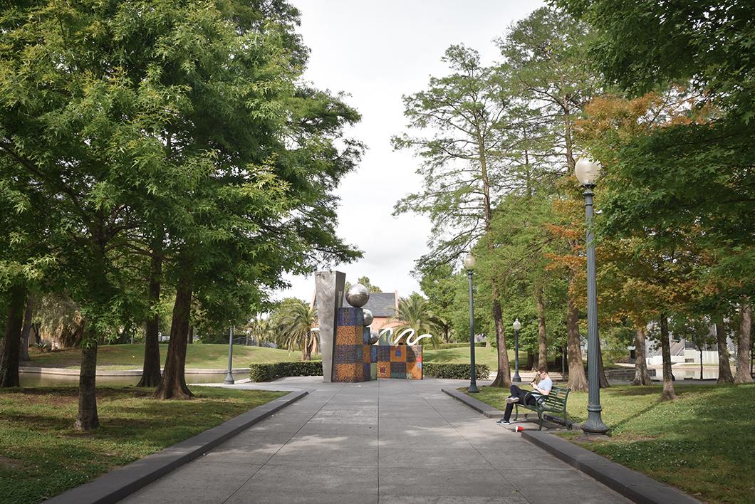 Park Louis Armstrong à la Nouvelle Orléans