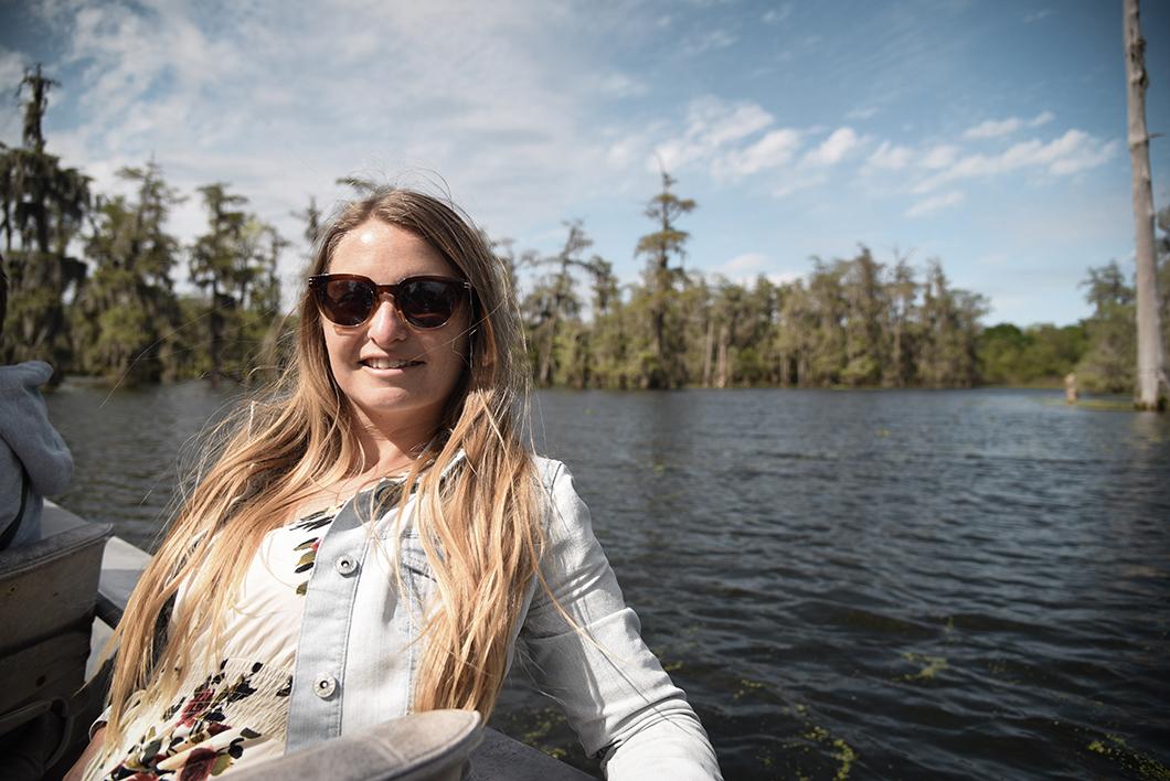 Bateau dans les bayous de Louisiane