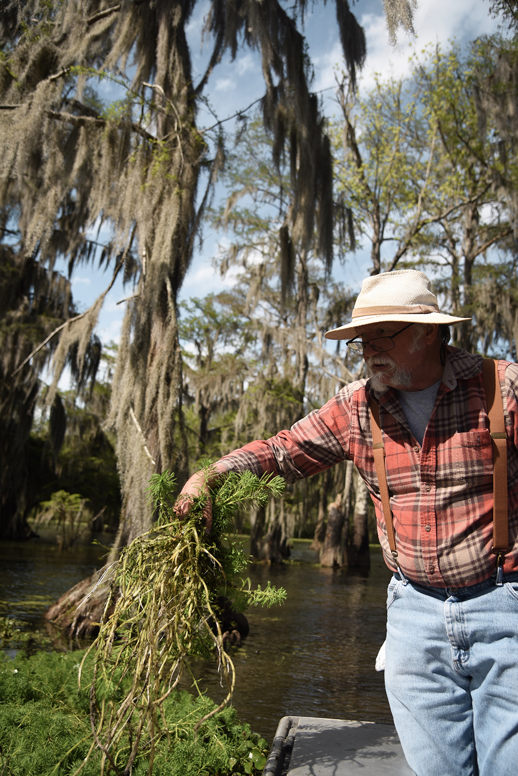 Notre guide au Lac Martin, Cajun Country Swamp Tours
