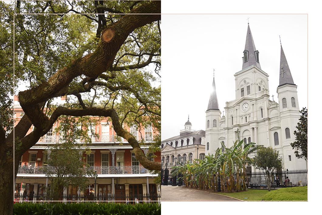 Jackson Square dans le Vieux Carré à la Nouvelle Orléans