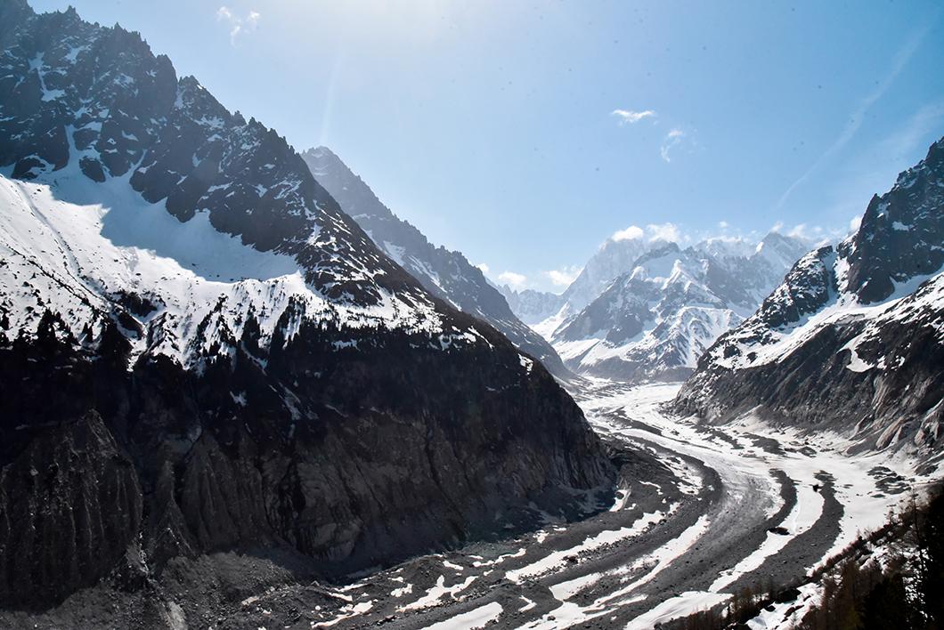 La Mer de Glace au Mont Blanc