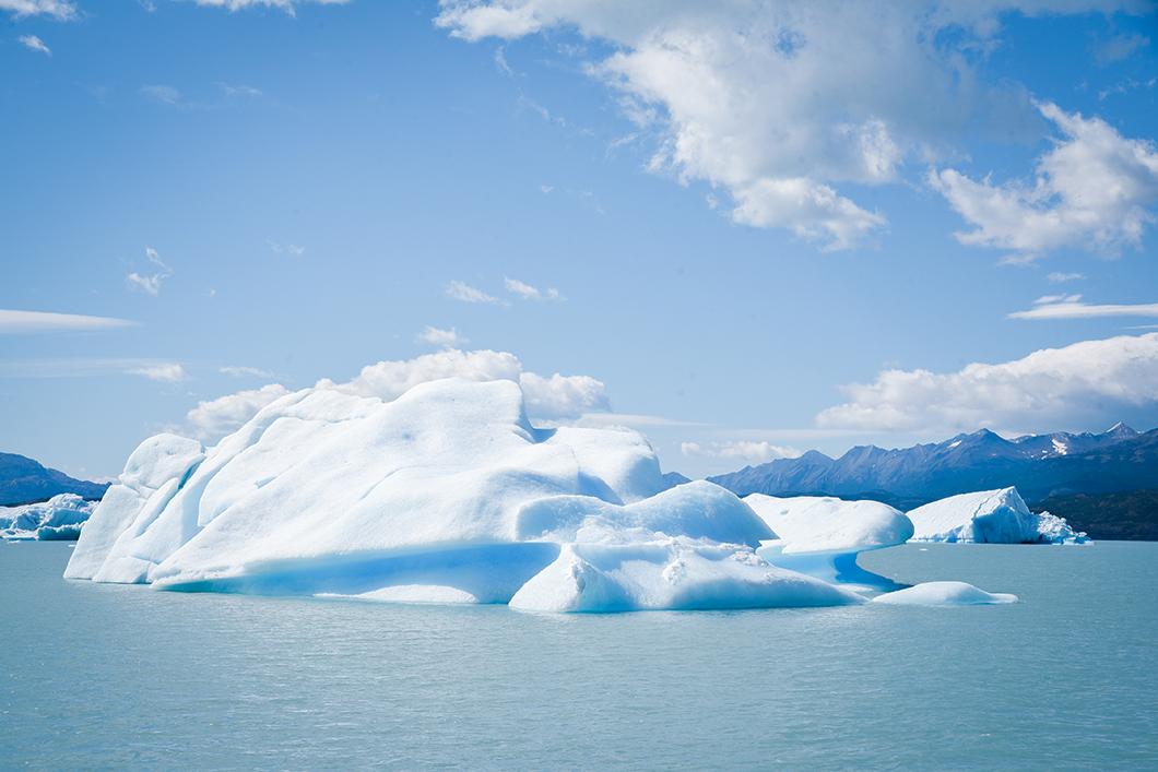 Glacier Upsala en Argentine