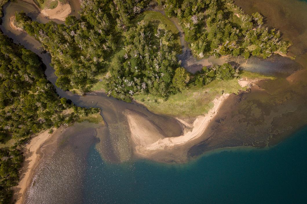 Les lacs de Bariloche vue du ciel