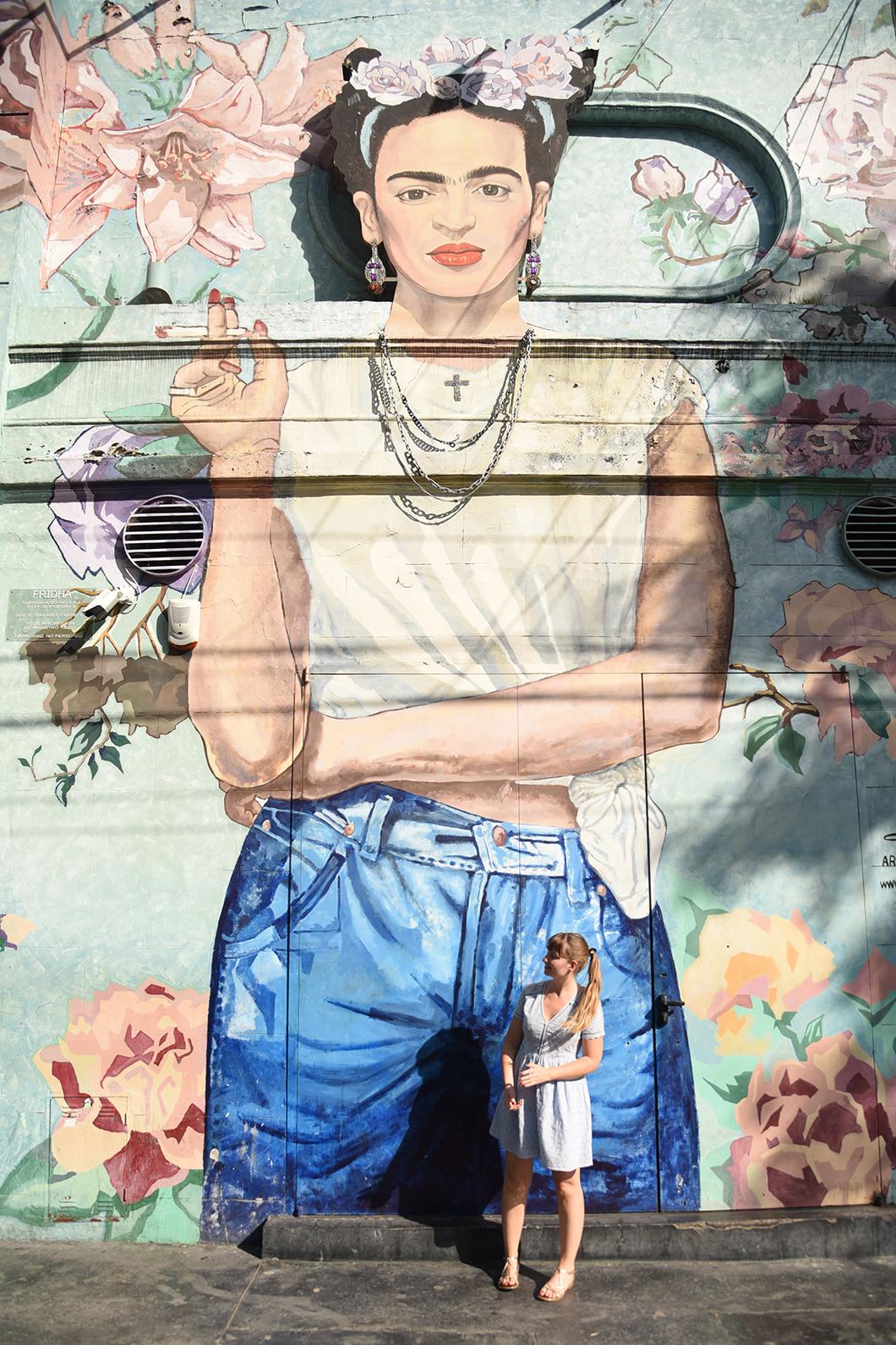 Street art Frida à Buenos Aires