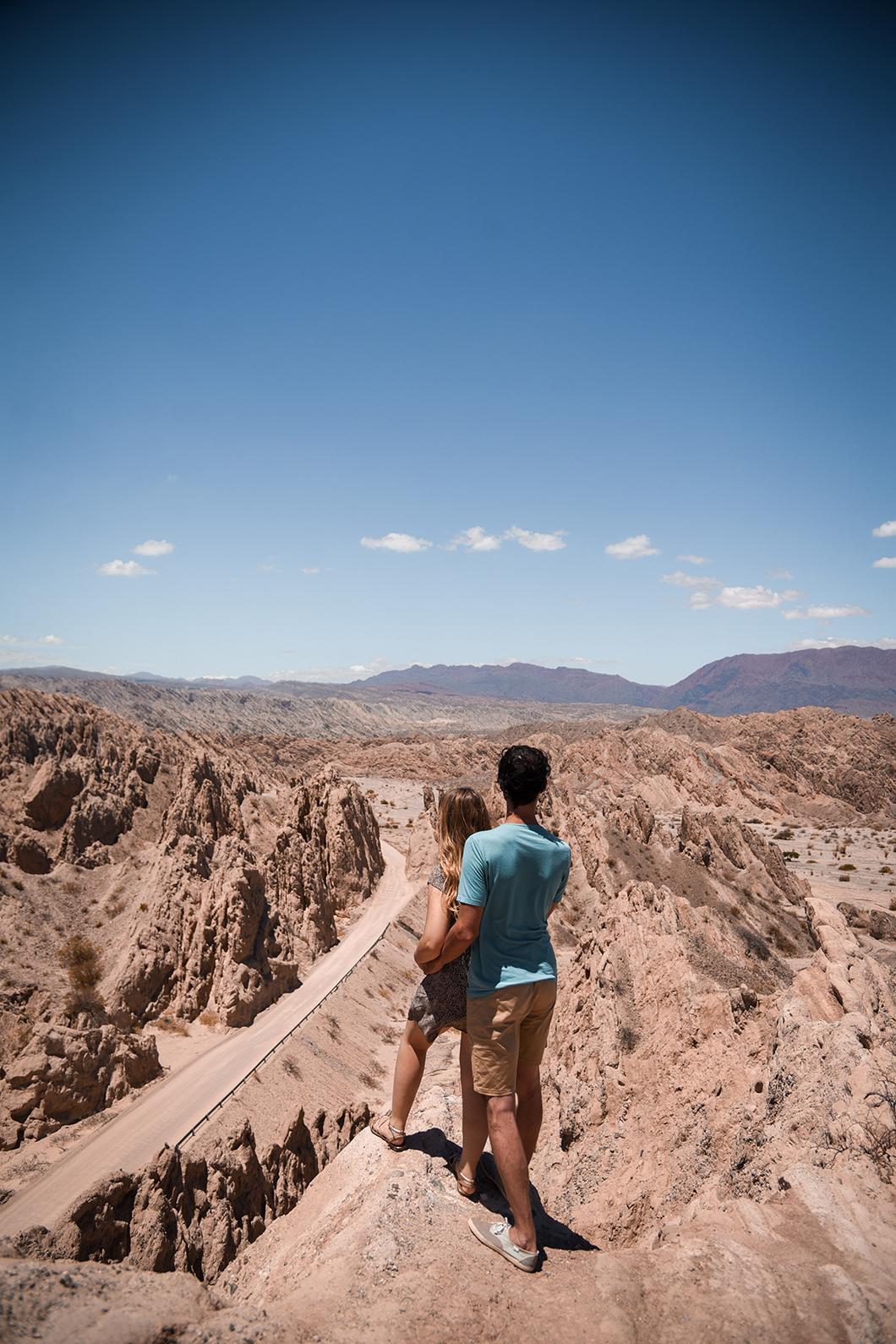 Point de vue à la Quebrada de las Flechas