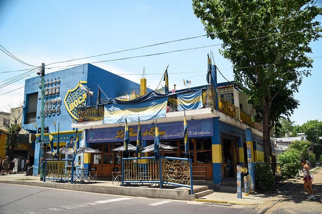 La Boca aux couleurs du stade de football