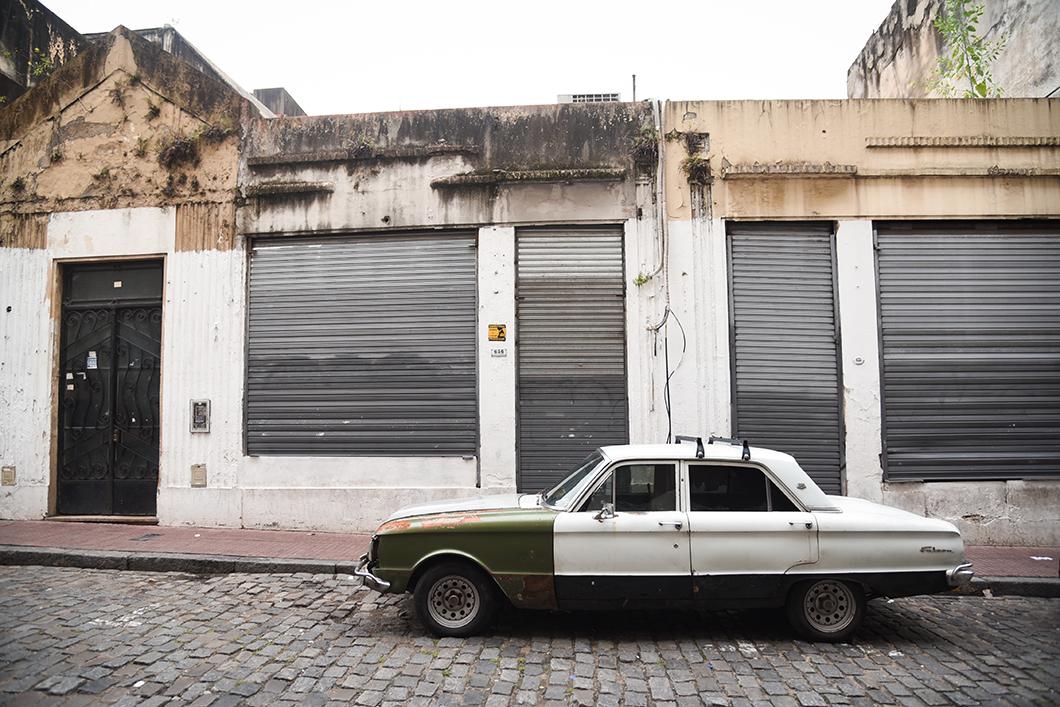 Les rues du quartier de San Telmo à Buenos Aires