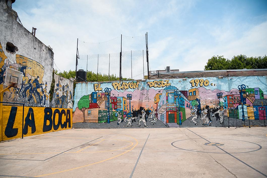 Street art dans le quartier de la Boca