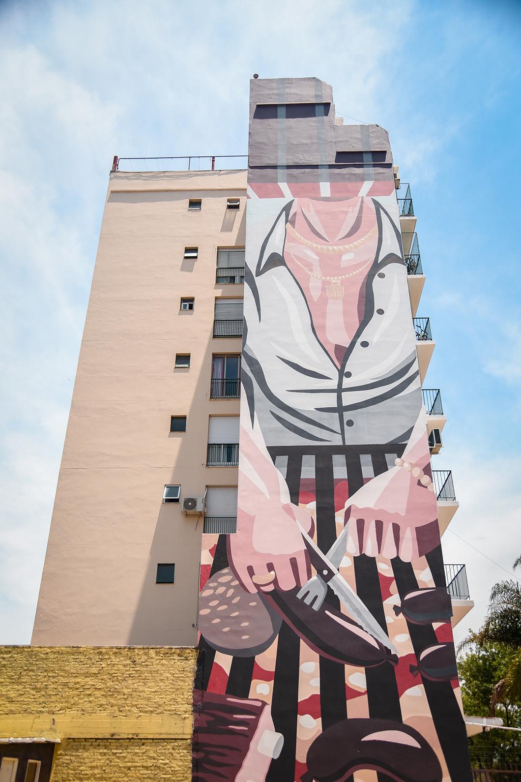 Fresque murale à la Boca