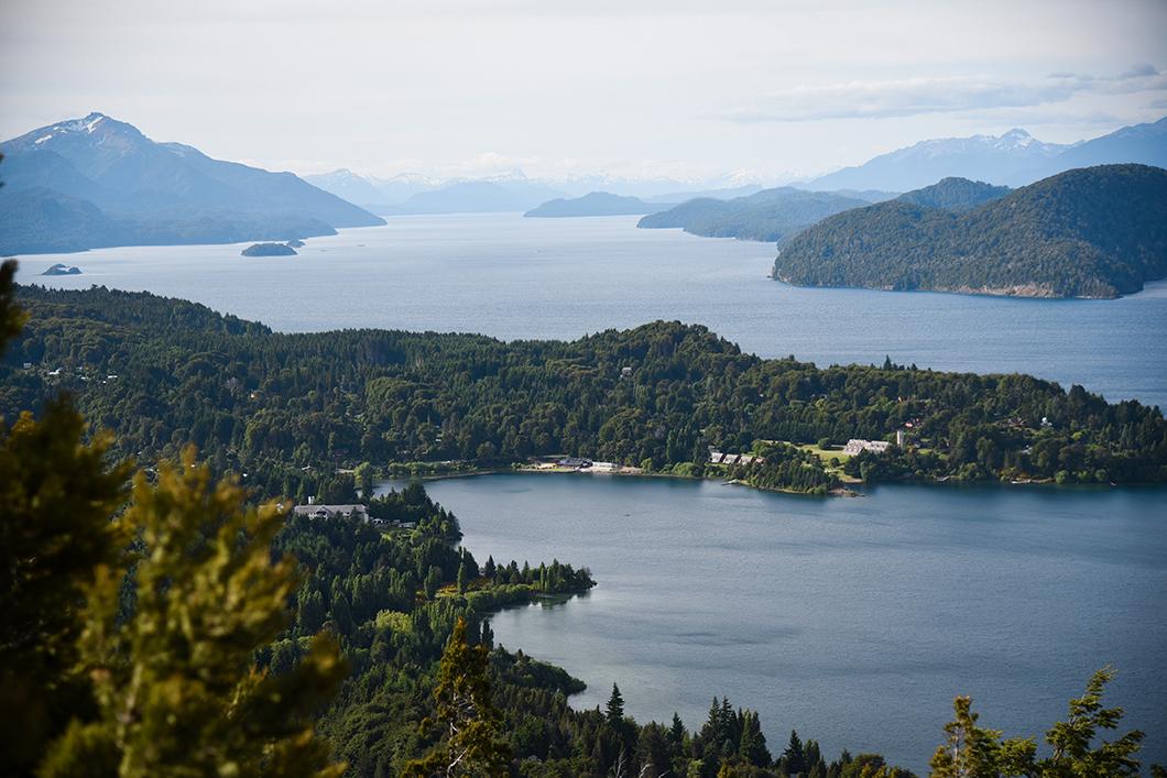 Point du vue du Cerro Campanario à Bariloche