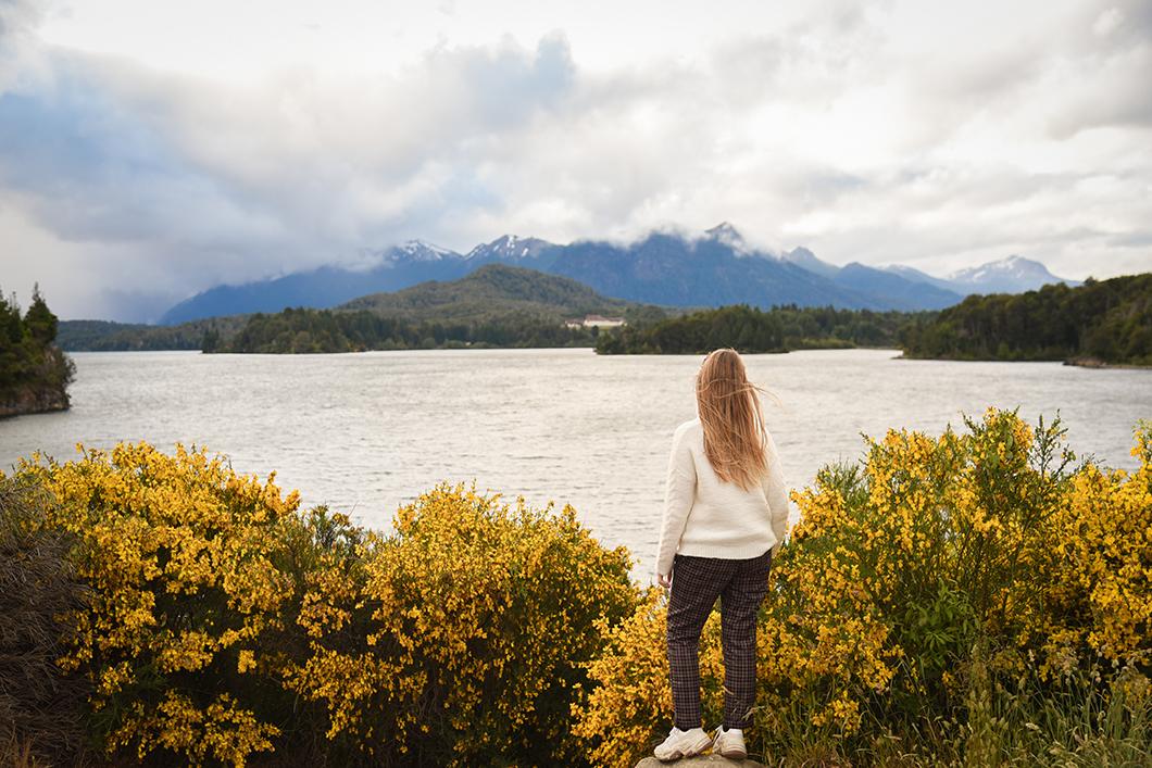 Point de vue sur le lac à Bariloche