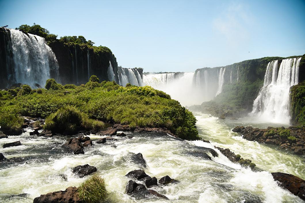 Beaux points de vue à Iguazu côté Brésil