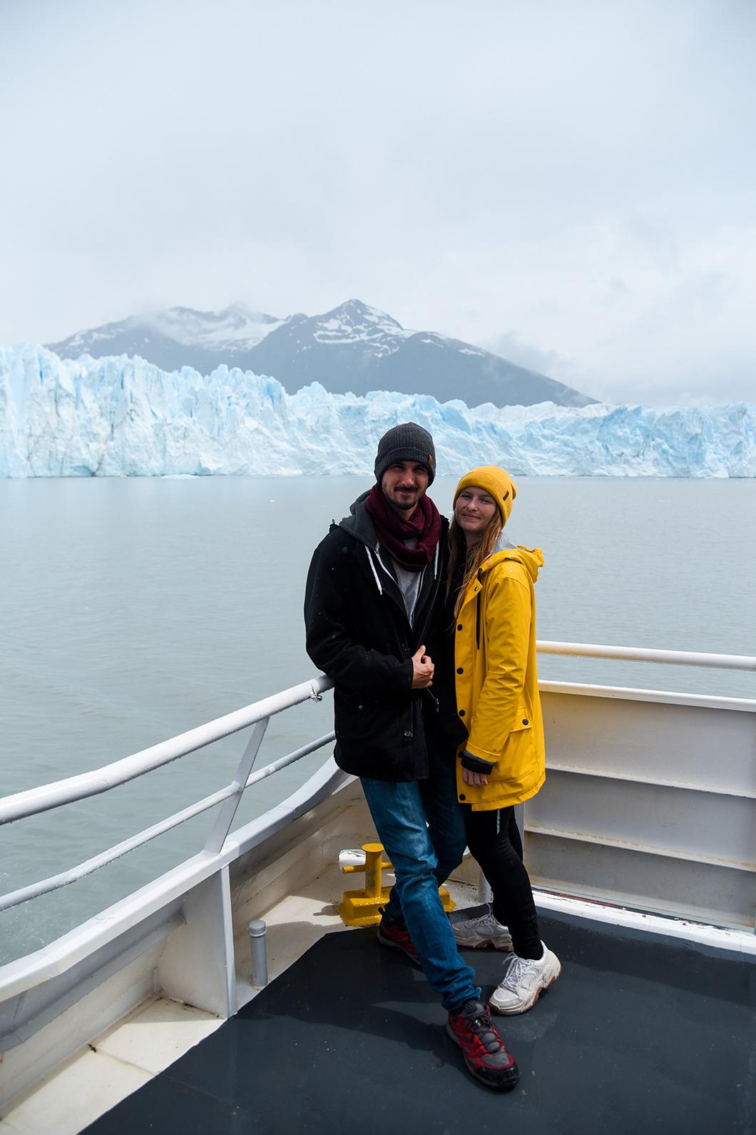 Faire du bateau au Perito Moreno