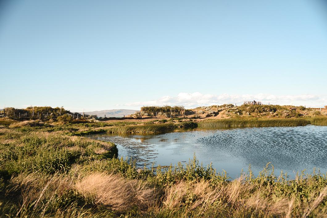Coucher de soleil à la réserve Laguna Nimez