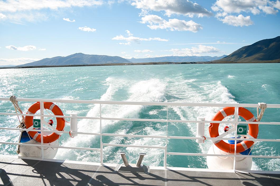 Faire du bateau sur le Lago Argentino en Patagonie