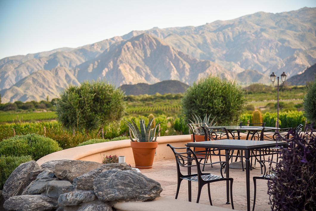 La belle terrasse de la Bodega Piattelli