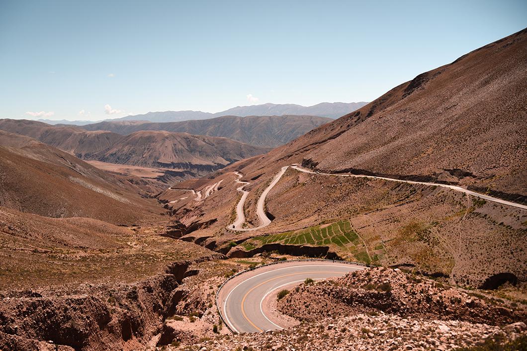 Route pour aller aux Salinas Grandes en Argentine