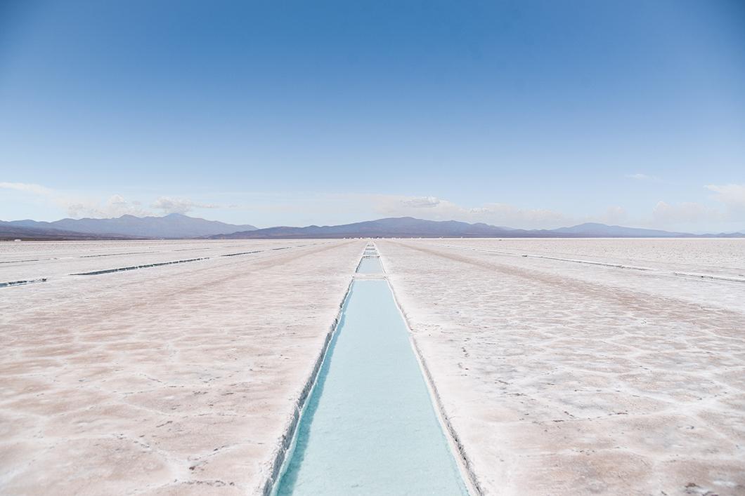 Le désert de sel aux Salinas Grandes dans la province de Jujuy
