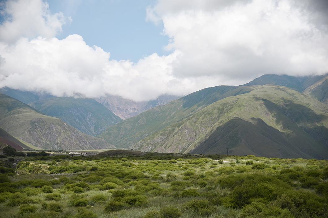 Vallée de la caldera près de Salta