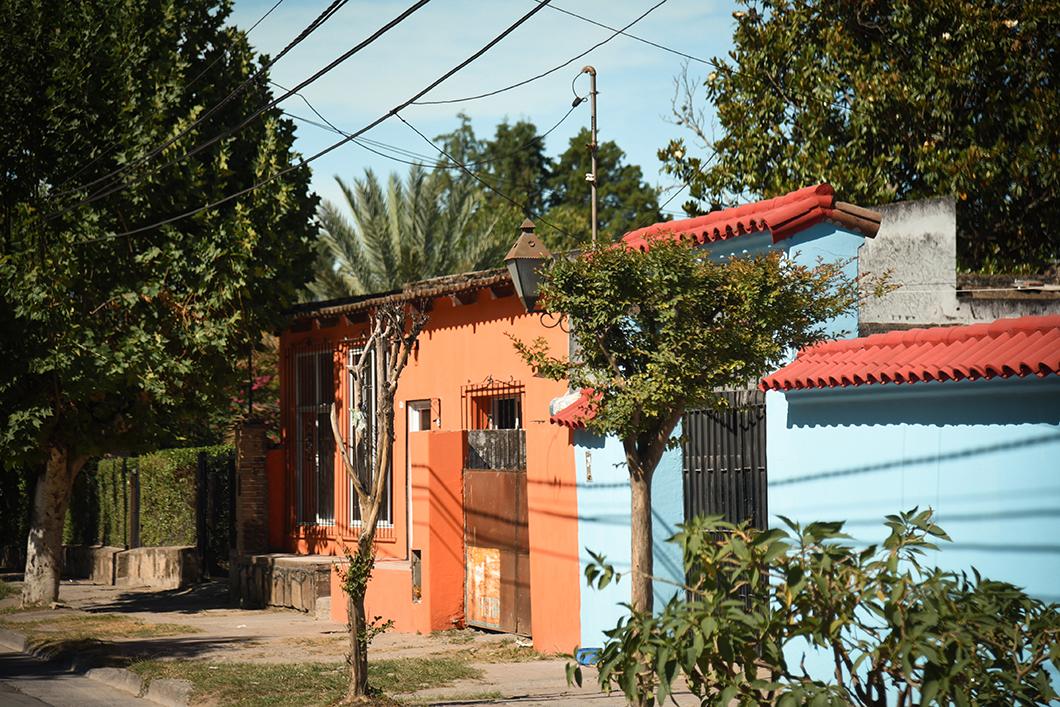Maisons colorées dans les environ de Salta