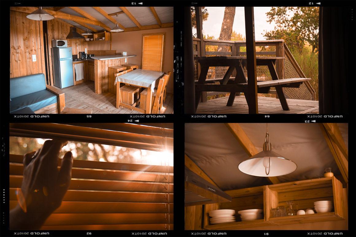 Le lodge en bois du Camping des Pins à Soulac-sur-Mer