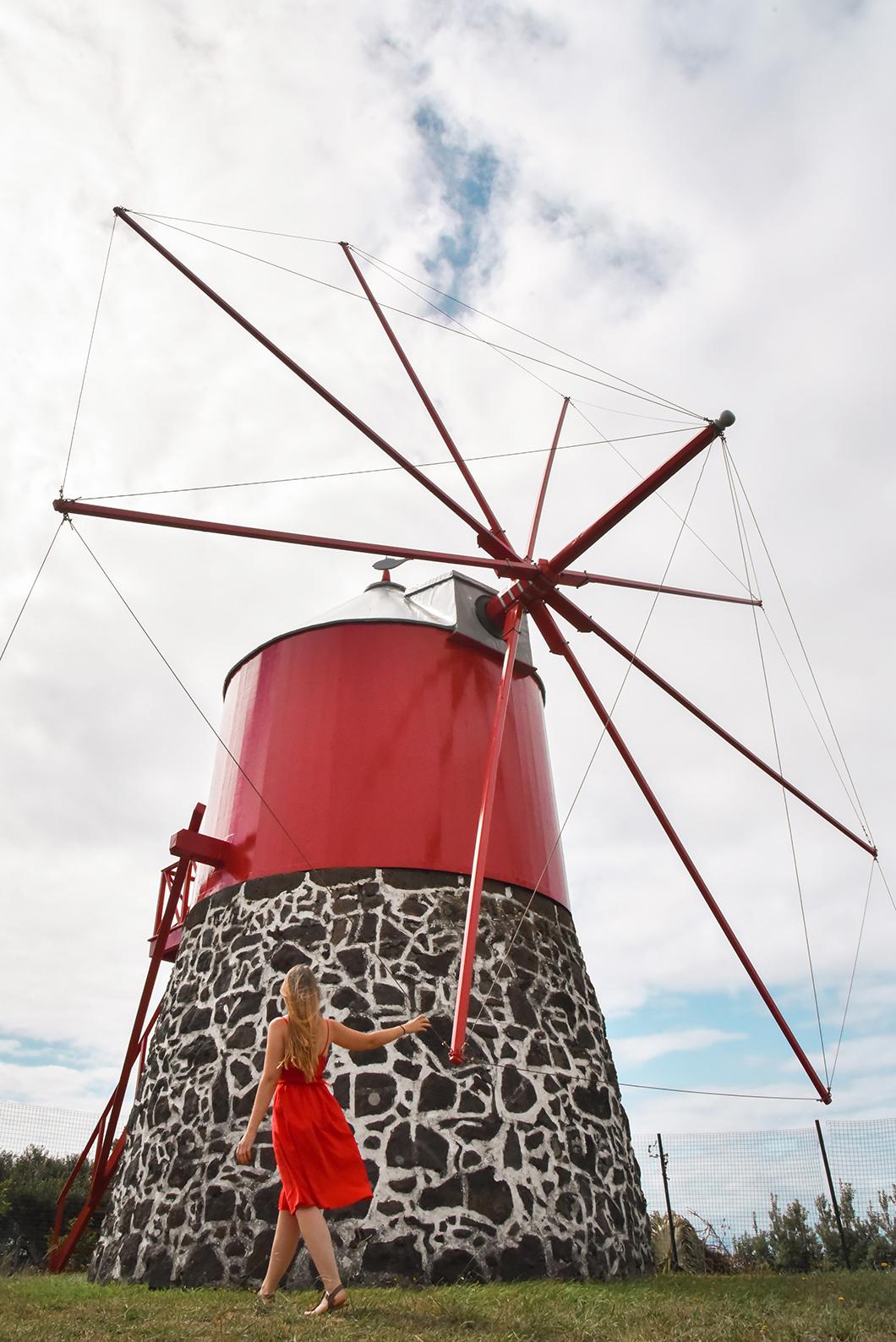 Les moulins de l'île de Faial dans les Açores au Portugal