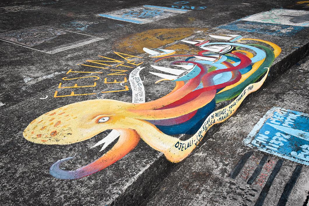 Street art à la Marina de Horta