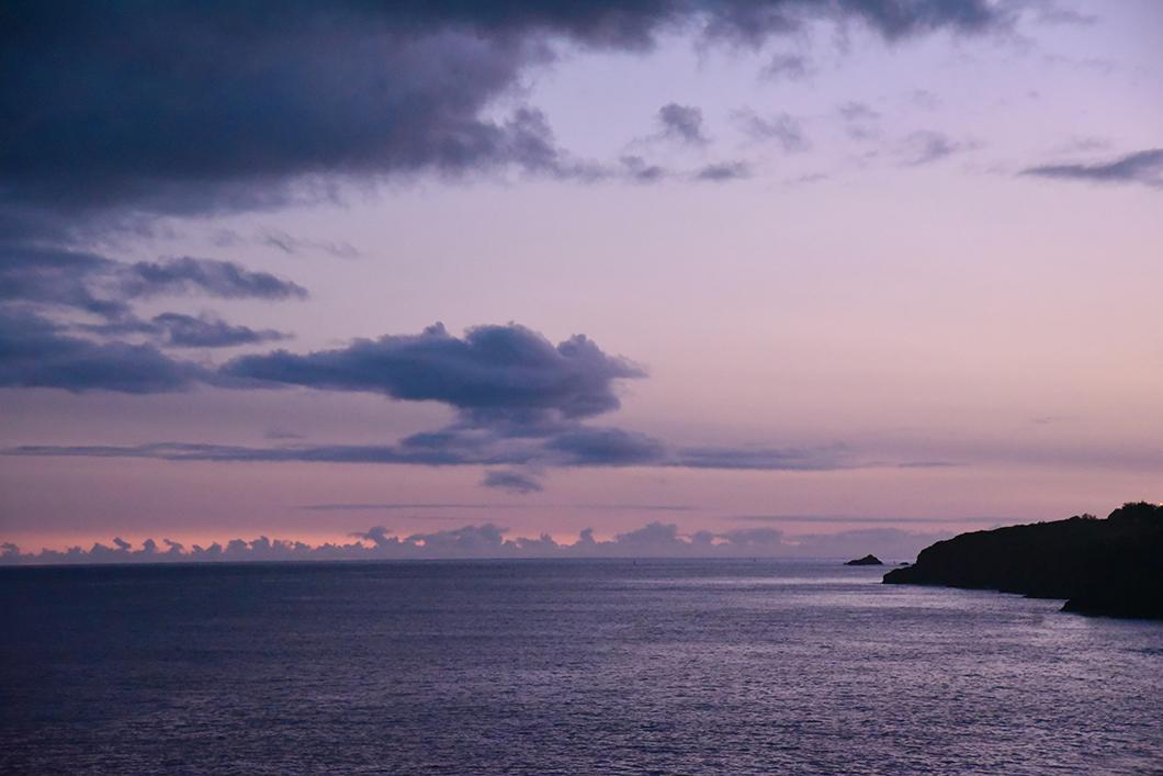 Soirée à Faial dans les Açores au Portugal