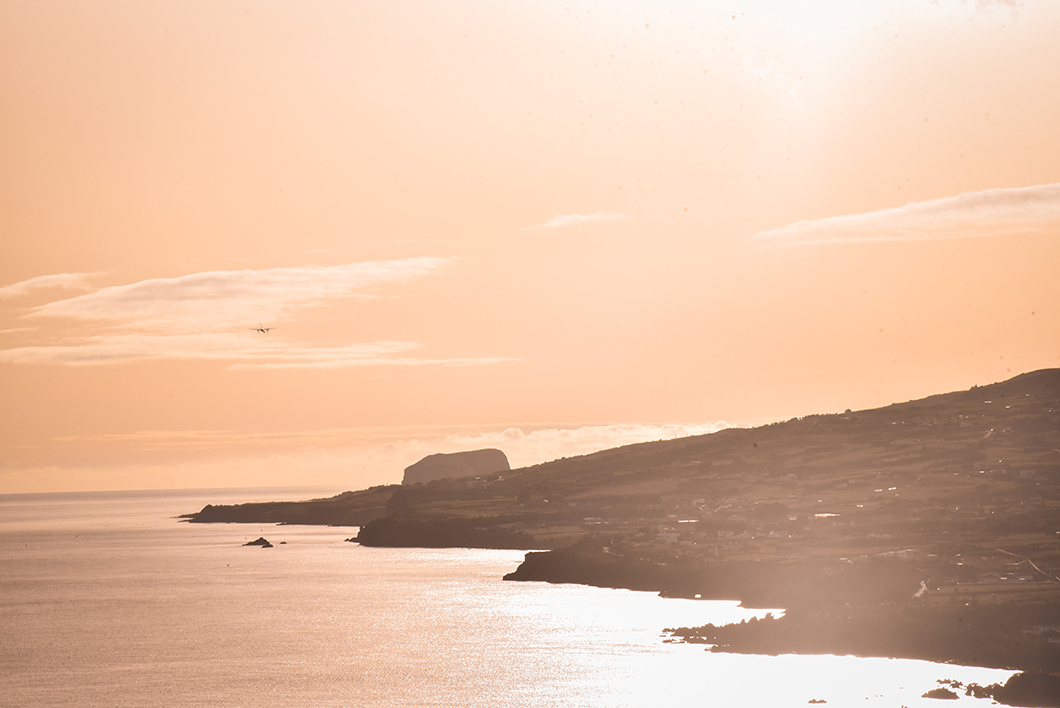 Point de vue sur la baie de Porto Pim dans les Açores