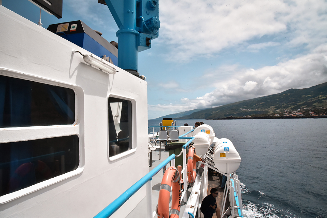 Aller de l'île de Pico à l'île de Faial en bateau