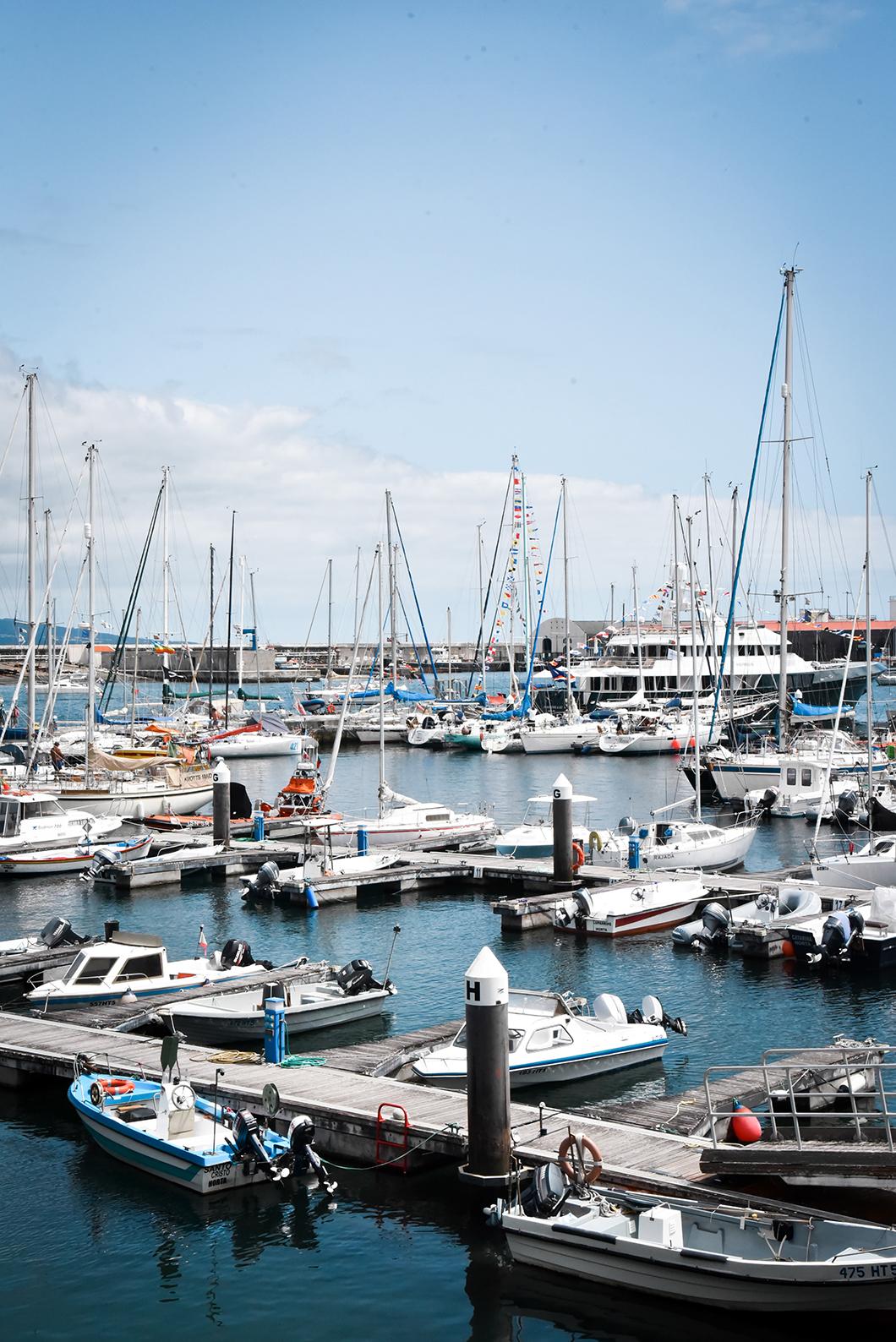 Les bateaux de la Marina de Horta