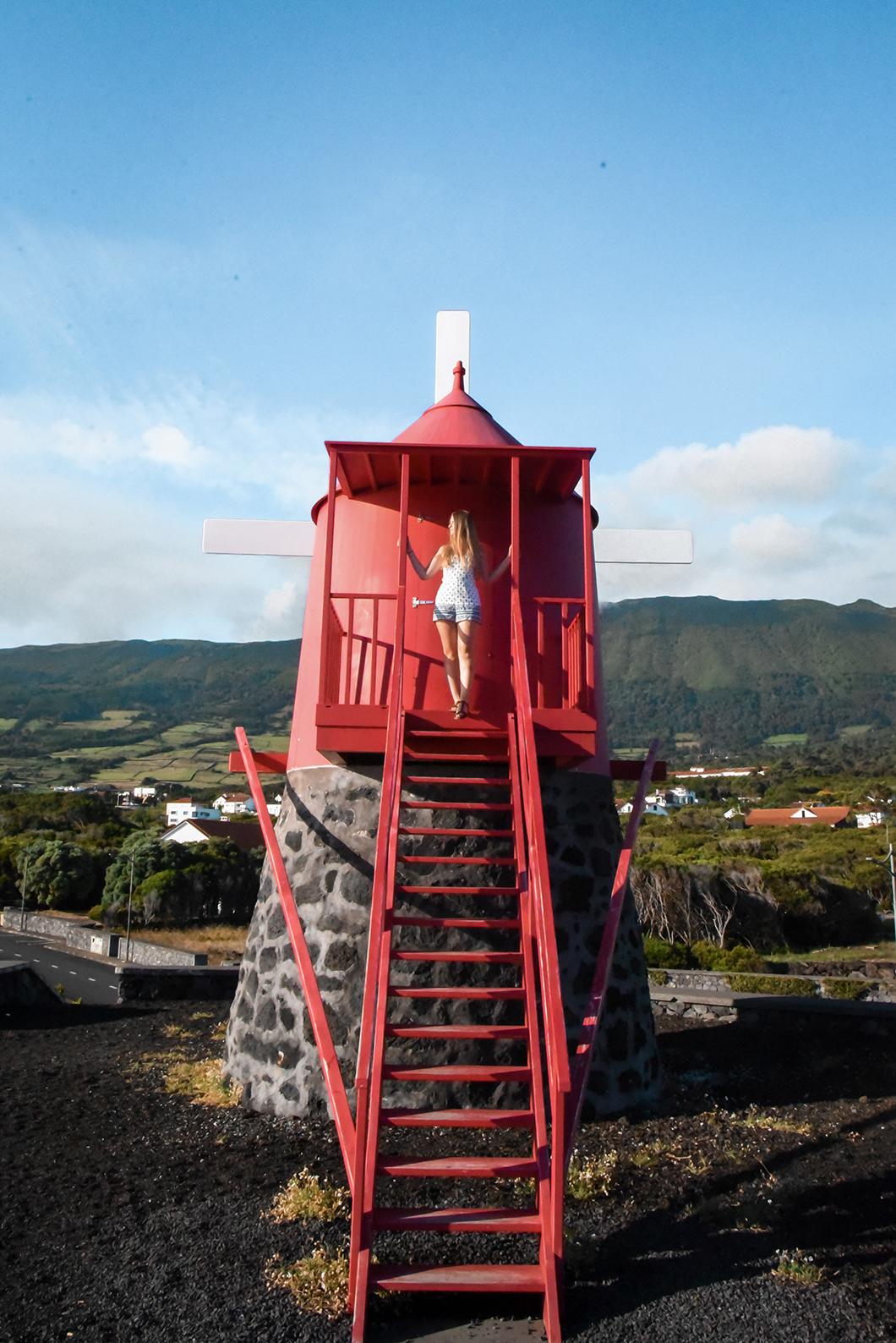 Les moulins de l'île de Pico dans les Açores