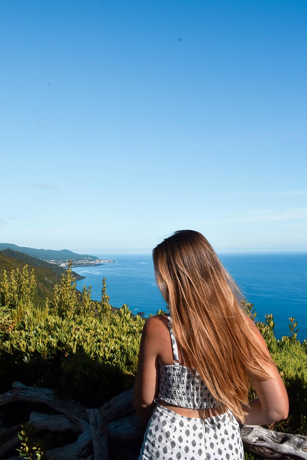 Beaux points de vue de l'île de Pico dans les Açores