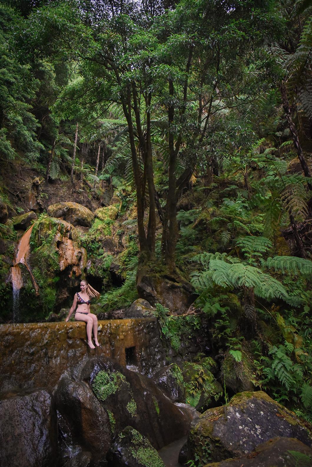 Activités à faire dans les Açores, balade tropicale à la Caldeira Velha