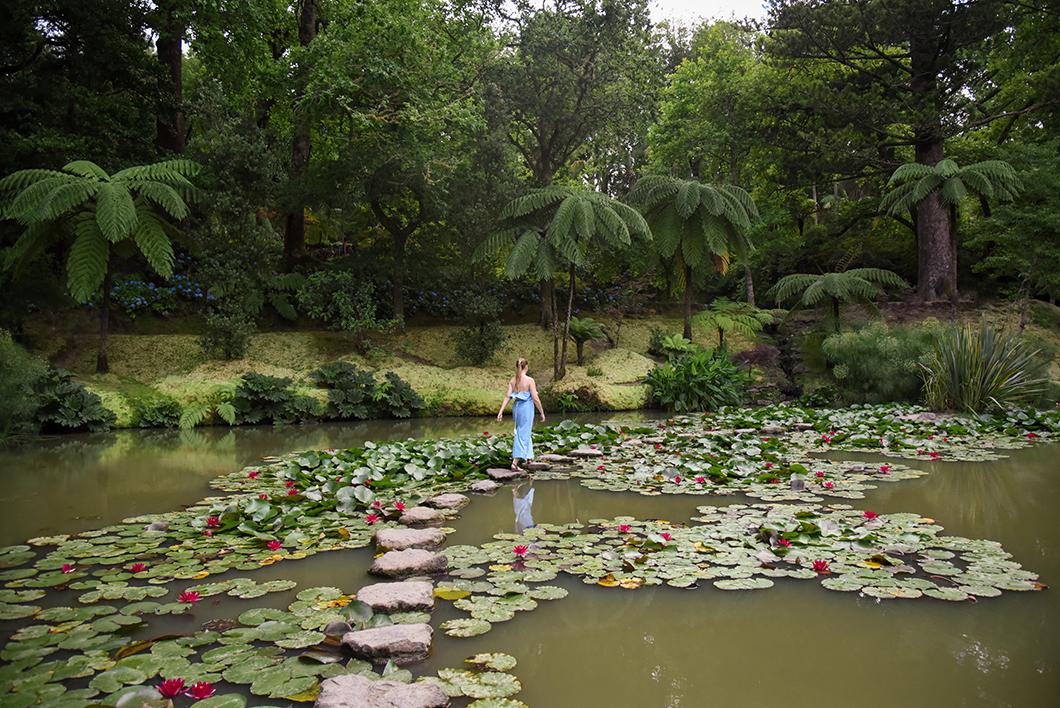 Ambiance tropicale au parc de Terra Nostra à Furnas