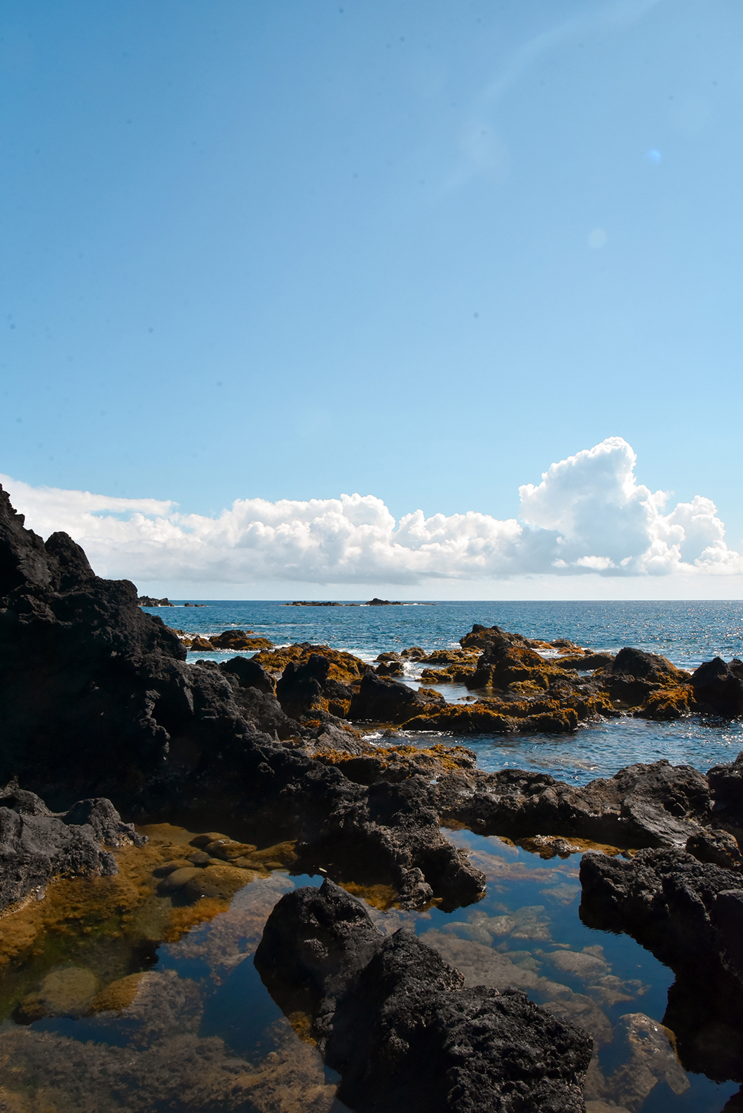 Spot pour se baigner à Ferraria dans les Açores
