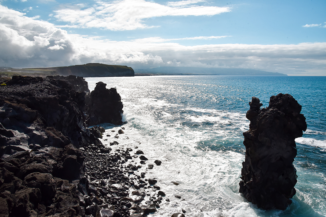 Vue sur Ponta das Praias à Ribeira Grande dans le Açores