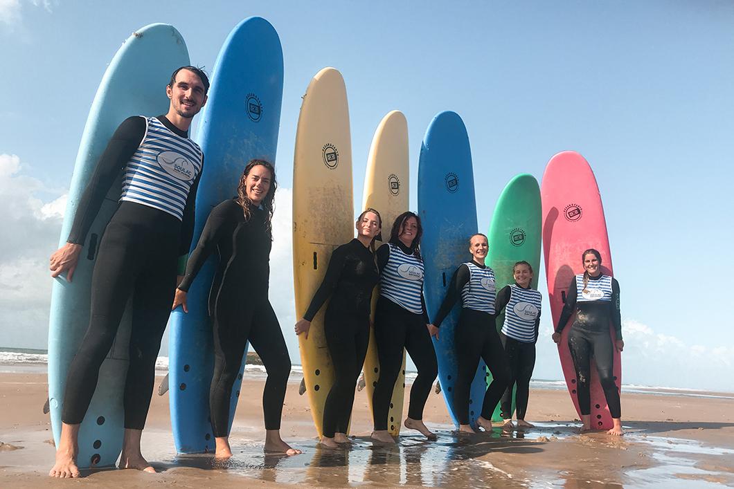 Cours de surf à Soulac-sur-Mer