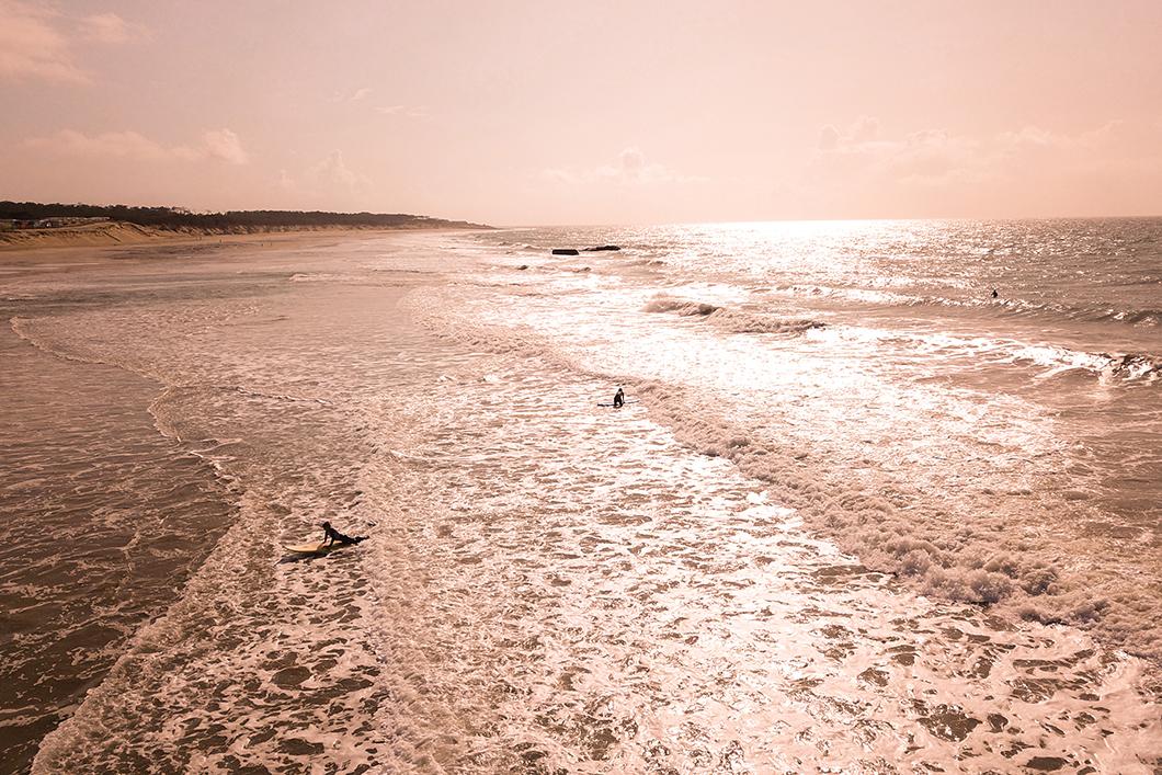 Coucher de soleil à Soulac-sur-Mer