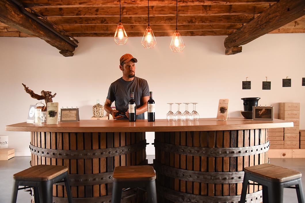Dégustation de vins au Château De La Croix à Soulac-sur-Mer